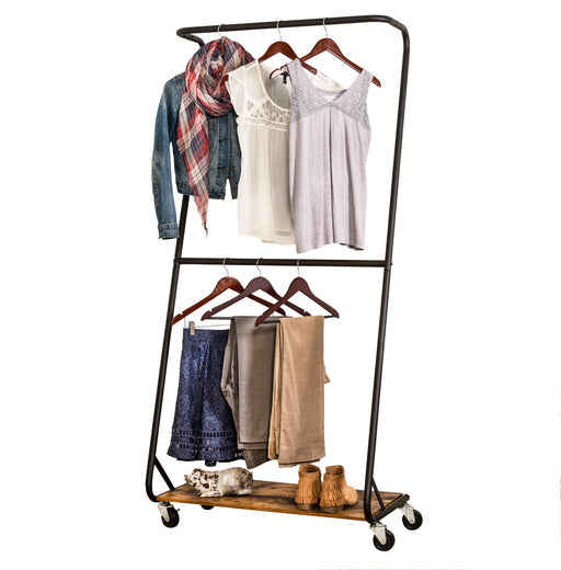 Z-Frame Double Bar Garment Rack