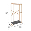 Bamboo & Canvas Garment Rack