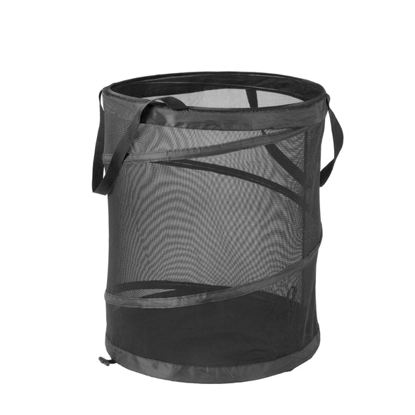 Mesh Pop-Up Hamper, Black