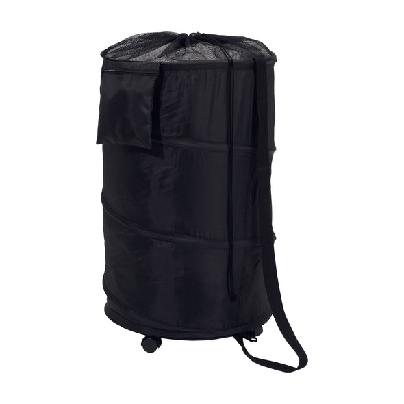 Pop-Up Laundry Bin and Hamper with Wheels, Black