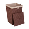 Decorative Woven Hamper with Lid, Java Brown
