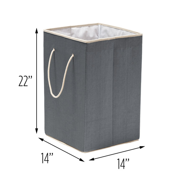 Collapsible Resin Clothes Hamper, Grey