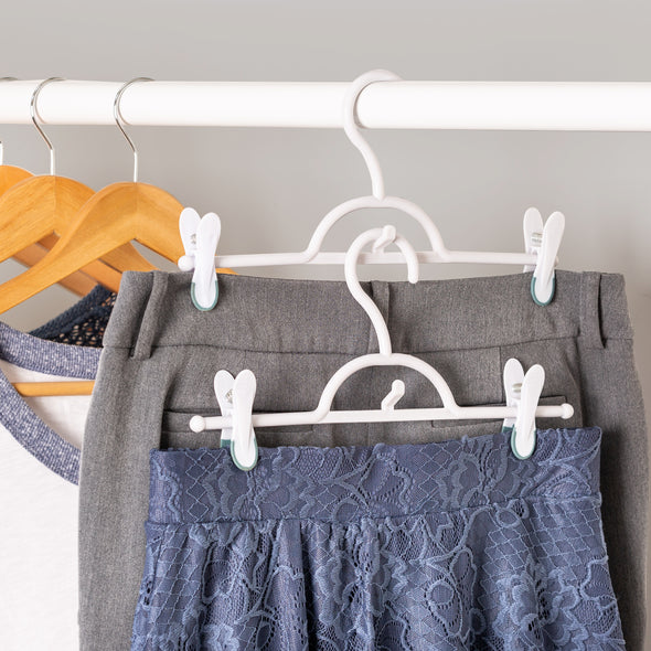 2-Pack Soft Touch Skirt Hangers, White