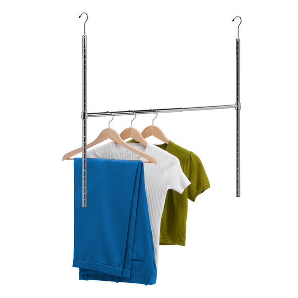 Adjustable Hanging Closet Rod, Chrome