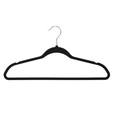 Rubber Space-Saving Hangers, Black