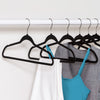 50-Pack Rubber Space-Saving Hangers, Black