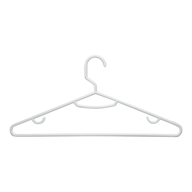 Recycled Plastic White Hangers, 60-Pack