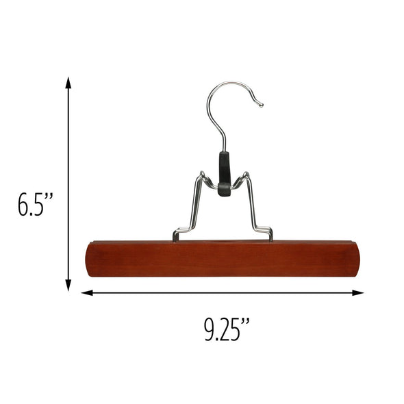 16-Pack Wood Pant Clamp Hangers, Cherry