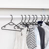 15-Pack Plastic Recycled Hangers, Black