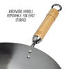 Joyce Chen Classic Series 14-Inch Round Bottom Carbon Steel Wok with Birch Handles