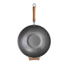 Joyce Chen Classic Series Uncoated Carbon Steel Wok Set with Lid and Birch Handles, 4 Pieces