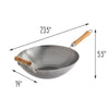 Joyce Chen Classic Series 14-Inch Carbon Steel Wok with Birch Handles