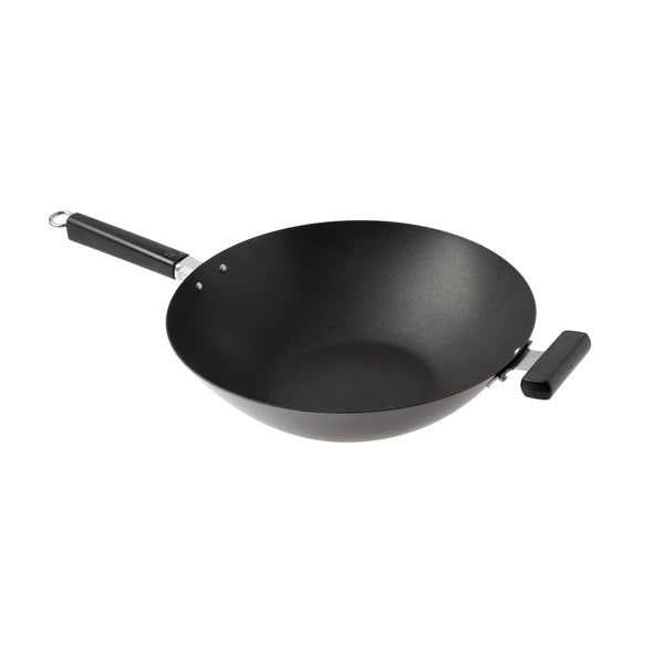 Joyce Chen Professional Series 14-Inch Carbon Steel Excalibur Nonstick Wok with Phenolic Handles
