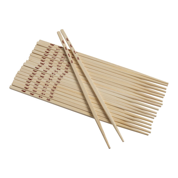 Joyce Chen Reusable Burnished Bamboo Chopsticks Set, 10 Pairs