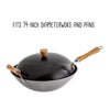 Joyce Chen Classic Series 14-Inch Carbon Steel Nonstick Wok Lid with Birch Knob
