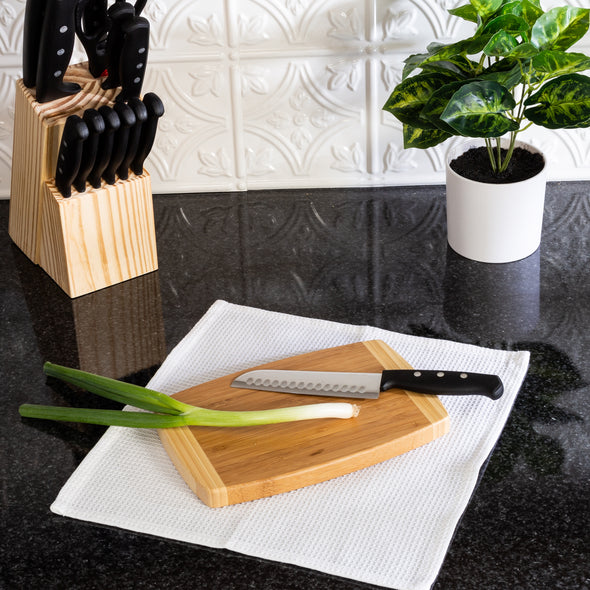 Joyce Chen Small Burnished Bamboo Cutting Board, 6x9 Inches