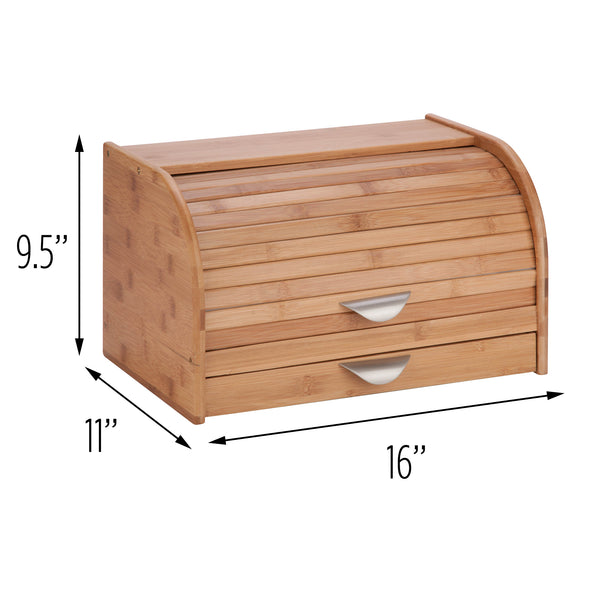 Bread Box with Cutting Board, Bamboo