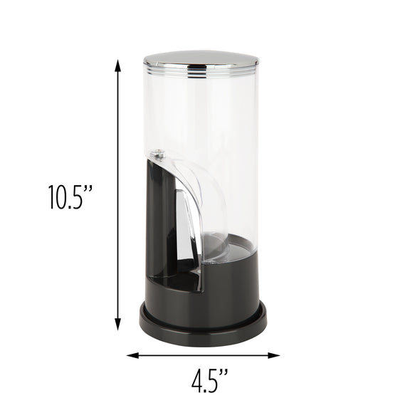 Coffee Grounds Dispenser, Black