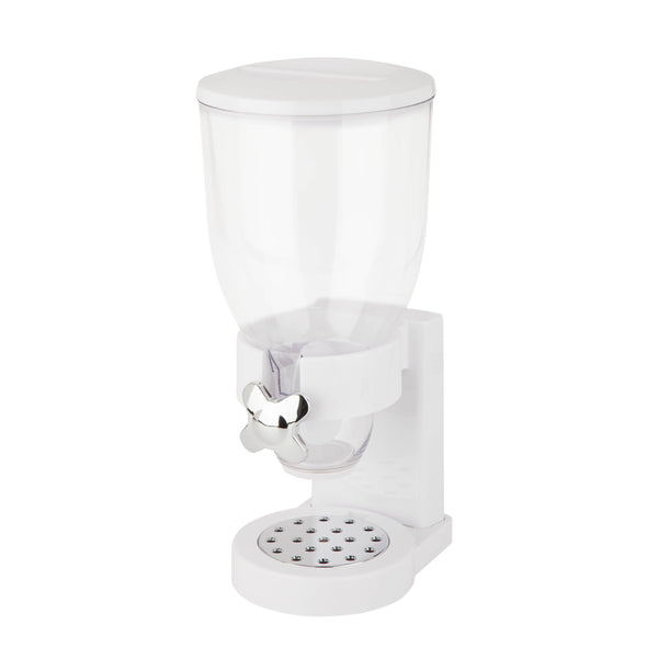 17.5-oz Cereal Dispenser with Portion Control, White