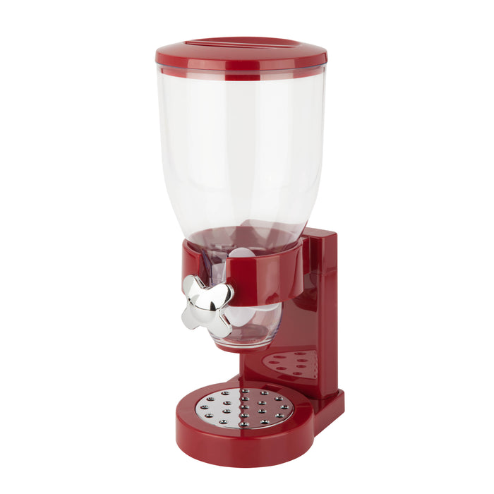 17.5-oz Cereal Dispenser with Portion Control, Red