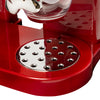 Double Cereal Dispenser with Portion Control, Red and Chrome
