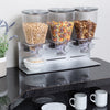 Triple Canister Commercial Cereal Dispenser, Stainless Steel