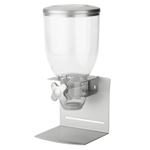 Single Commercial Cereal Dispenser, Grey