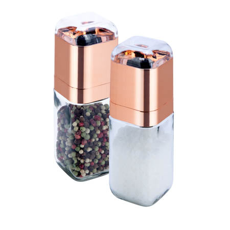 Salt & Pepper Grinder Set, Rose Gold