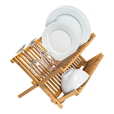 Bamboo Dish Drying Rack - honeycando.com