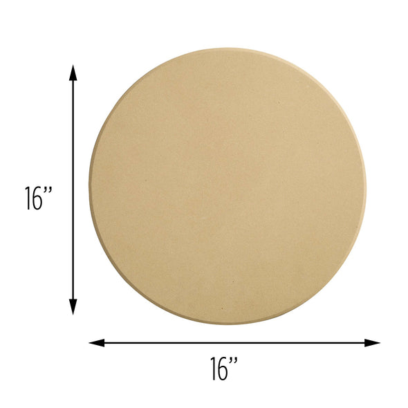 16-Inch Round Clay Pizza Stone