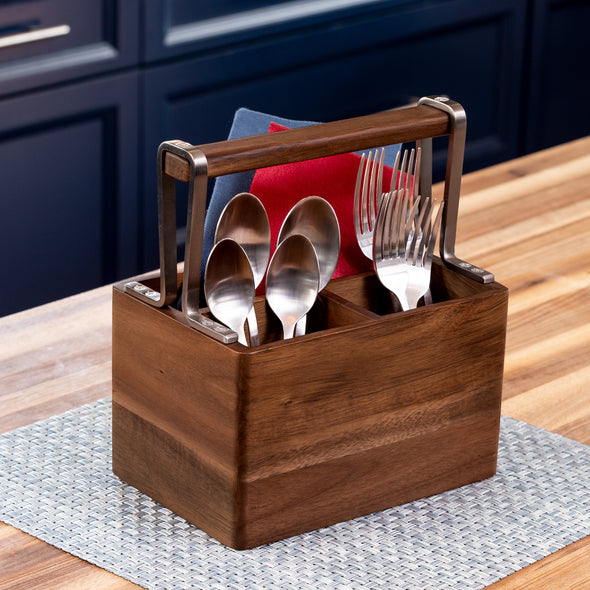 Acacia Kitchen Utensil Holder