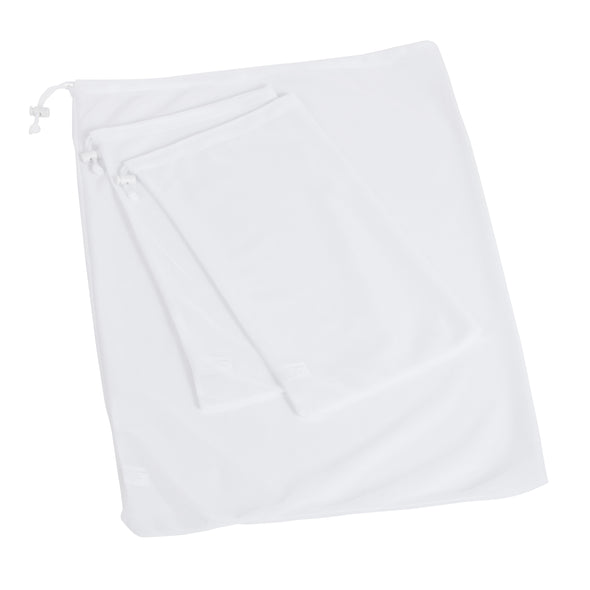 3-Piece Mesh Laundry Bag Set, White