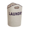 Laundry Basket with Handles, Grey & Navy