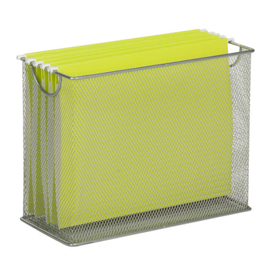 Mesh Tabletop File Folder Holder, Gray