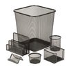 6-Piece Mesh Desk Set, Black