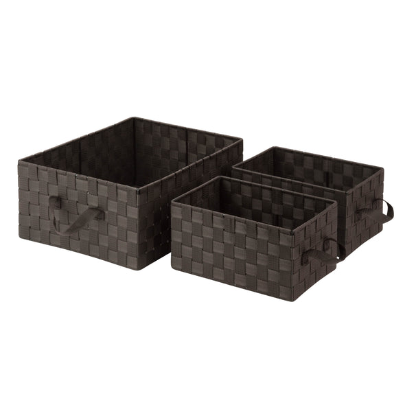 3-Piece Nesting Baskets, Espresso