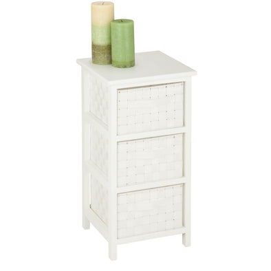 3-Drawer Storage Chest, White