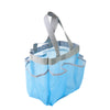 7-Pocket Shower Tote, Blue