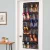 24-Pocket Over-The-Door Hanging Shoe Organizer, Black