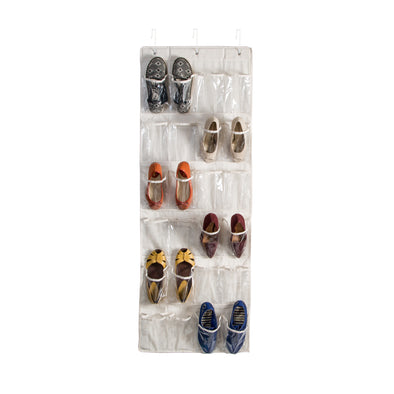 24-Pocket Over-The-Door Hanging Shoe Organizer, Canvas