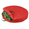 30-Inch Holiday Wreath Storage, Red