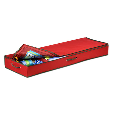 40-Inch Gift Wrapping Paper Organizer, Red