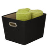 Medium Storage Bin with Handles, Black