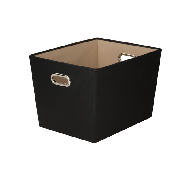 Large Storage Bin with Handles, Black