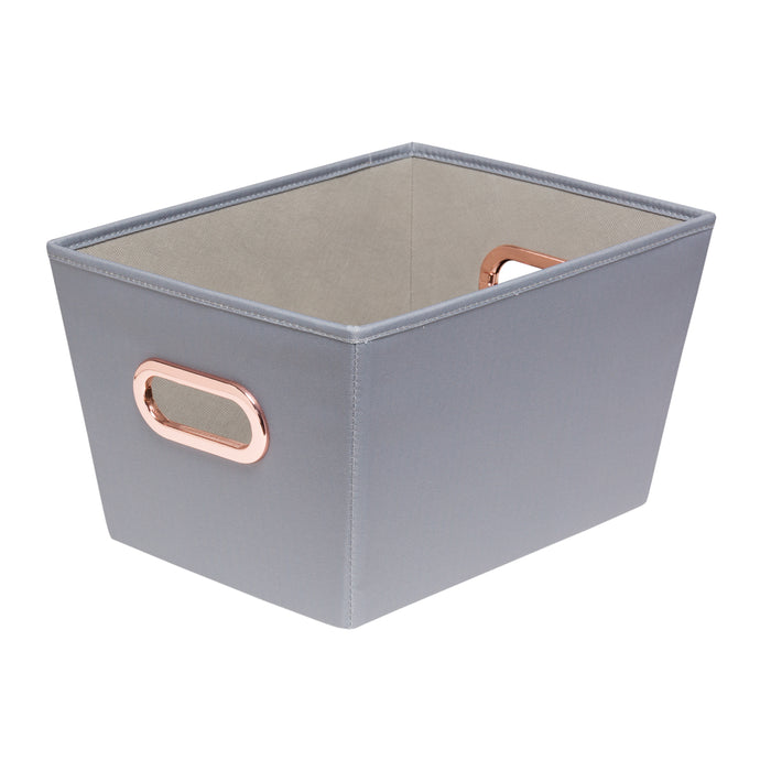 Small Storage Bin, Grey
