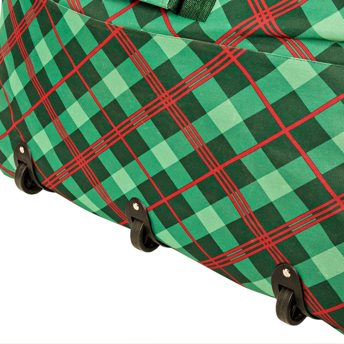 10-Foot Rolling Christmas Tree Storage Bag, Very Merry Plaid