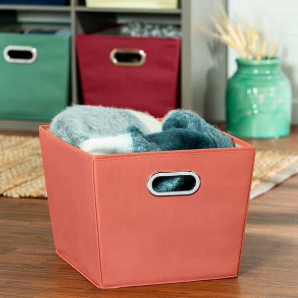 Medium Storage Bin with Handles, Orange