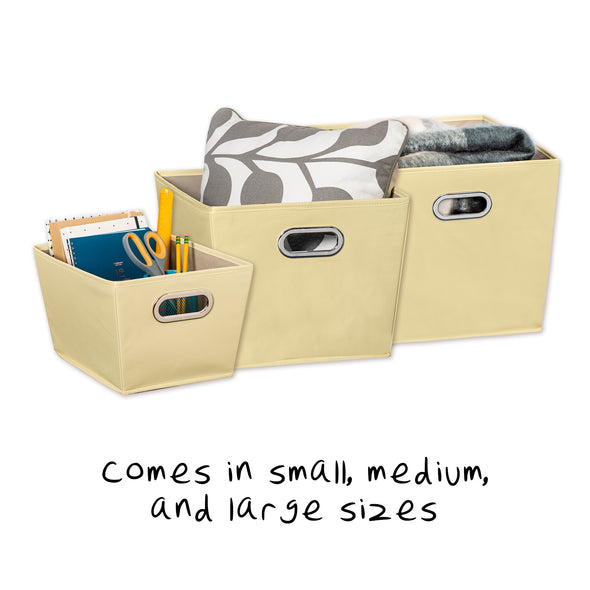 Medium Storage Bin with Handles, Yellow