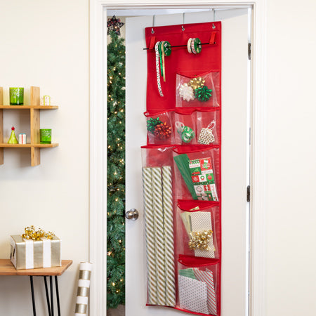 over-the-door-wrapping-paper-organizer-red