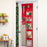 Over-The-Door Wrapping Paper Organizer, Red